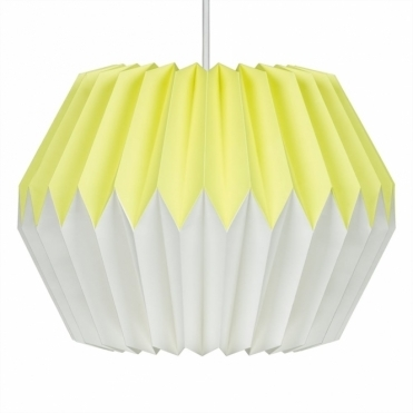Paper Lampshade - Lemon Yellow