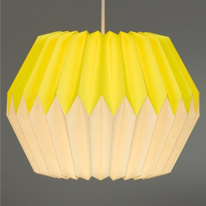 Wild & Wolf Wild Wood Paper Lampshade - Lemon Yellow