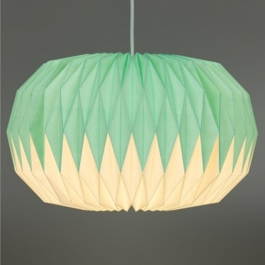 Paper Lampshade - Mint Green