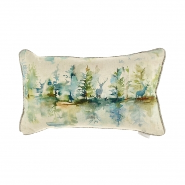 Wilderness Topaz Forest Rectangular Cushion