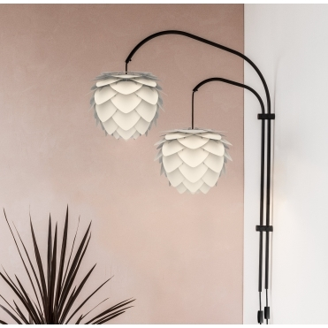 Willow Double Wall Lamp - Black