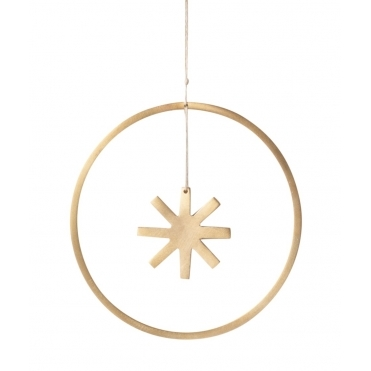 Winterland Brass Star - Hanging Decoration