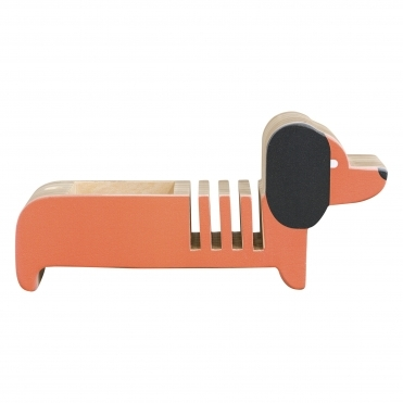 Wooden Letter Holder Dachshund