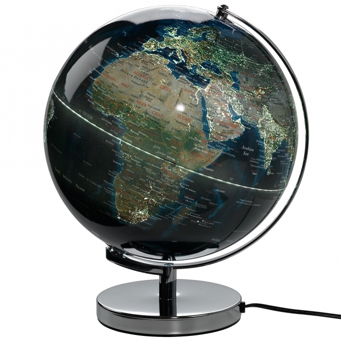 World's City Night Lights Illuminated Globe Lamp 12