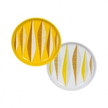 Yellow Stoneware Plates - Set of 2